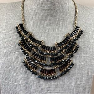 Jewelry - Black and gold triple layer statement necklace